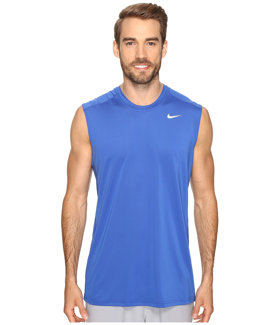 Nike - Dri-FIT Base Layer Fitted Cool Sleeveless Top (Game Royal White) Men's Sleeveless