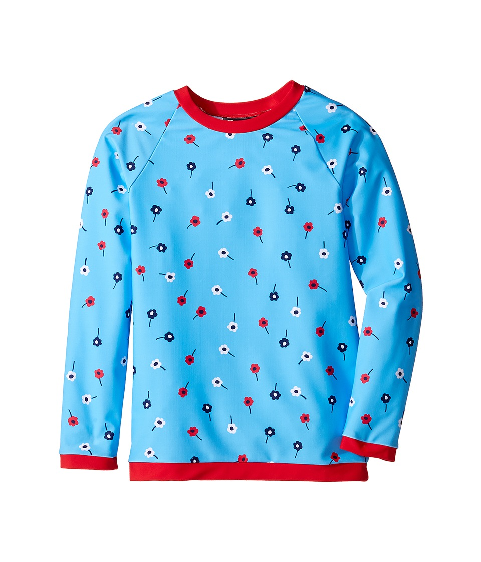 Oscar de la Renta Childrenswear - Mini Daisy Toss Rashguard (Toddler/Little Kids/Big Kids) (Ocean) Girl's Pajama