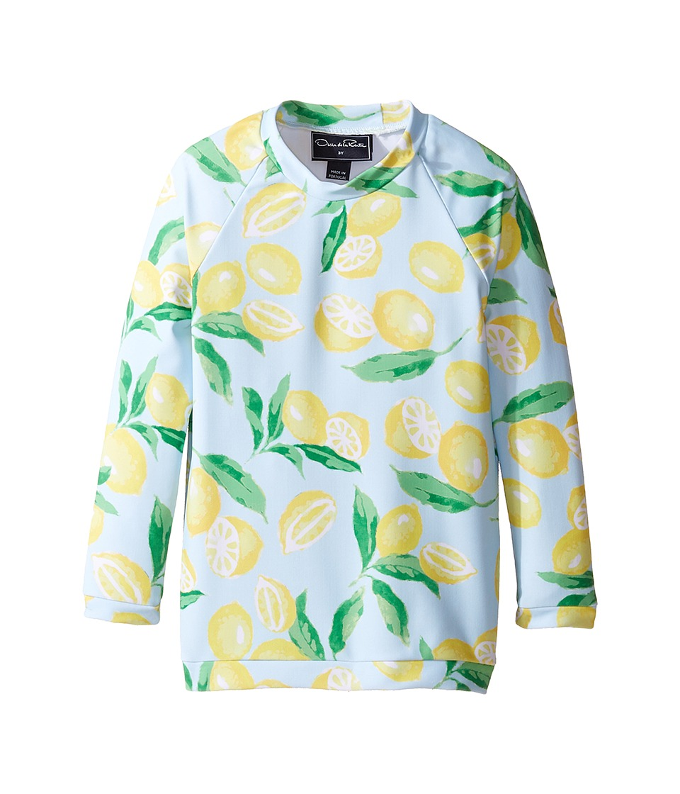 Oscar de la Renta Childrenswear - Painted Lemons Rashguard (Toddler/Little Kids/Big Kids) (Capri/Lemon) Girl's Swimwear