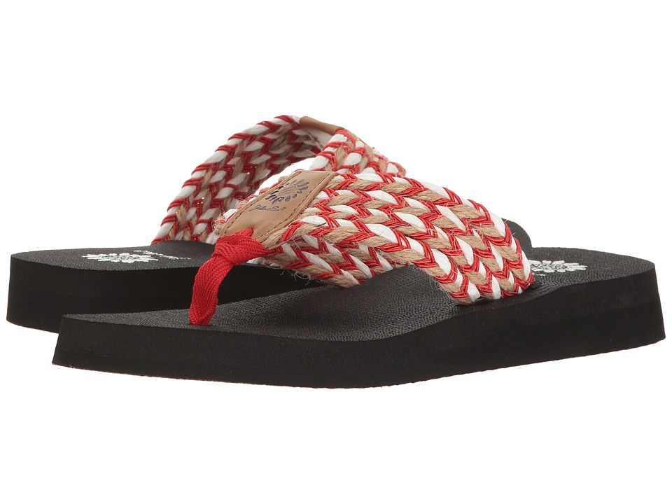 Yellow Box - Knit (Red) Women's Sandals