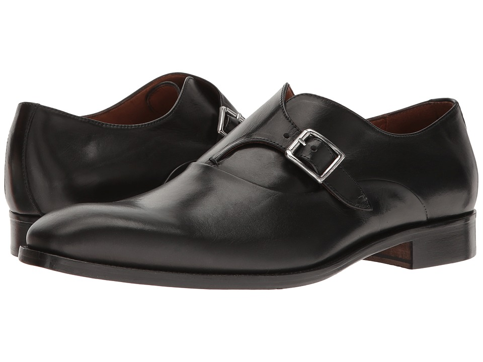 Massimo Matteo - Monk (Black) Men's Lace Up Wing Tip Shoes