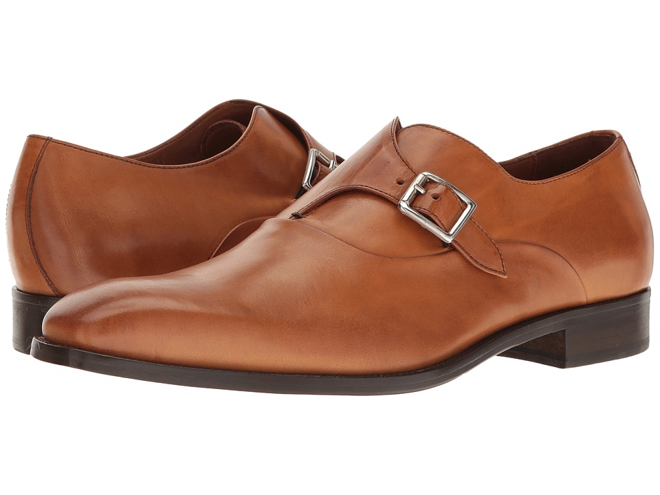 Massimo Matteo - Monk (Burnished Tan) Men's Lace Up Wing Tip Shoes