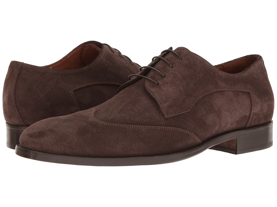 Massimo Matteo - Plain Wing (Brown Suede) Men's Lace Up Wing Tip Shoes