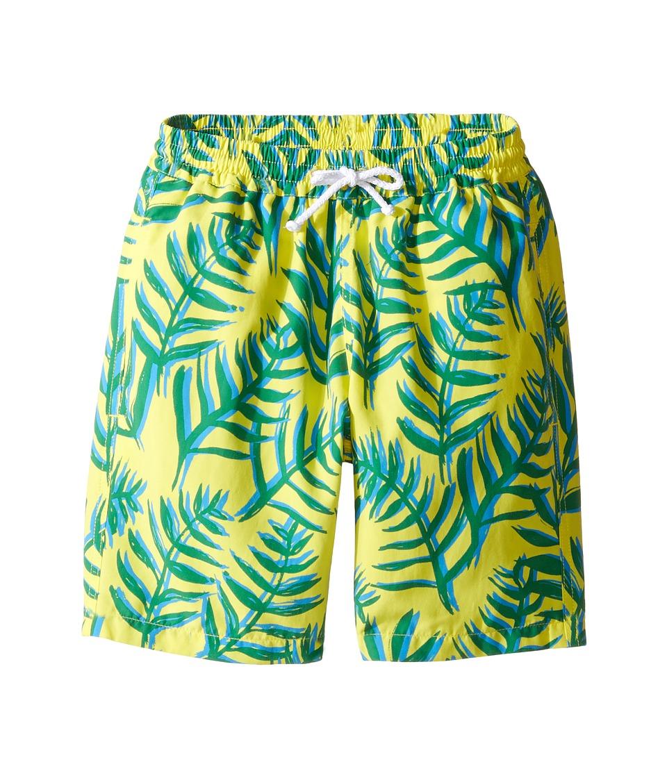 Oscar de la Renta Childrenswear - Palm Leaves Classic Swim Shorts (Toddler/Little Kids/Big Kids) (Lemon/Clover) Boy's Swimwear