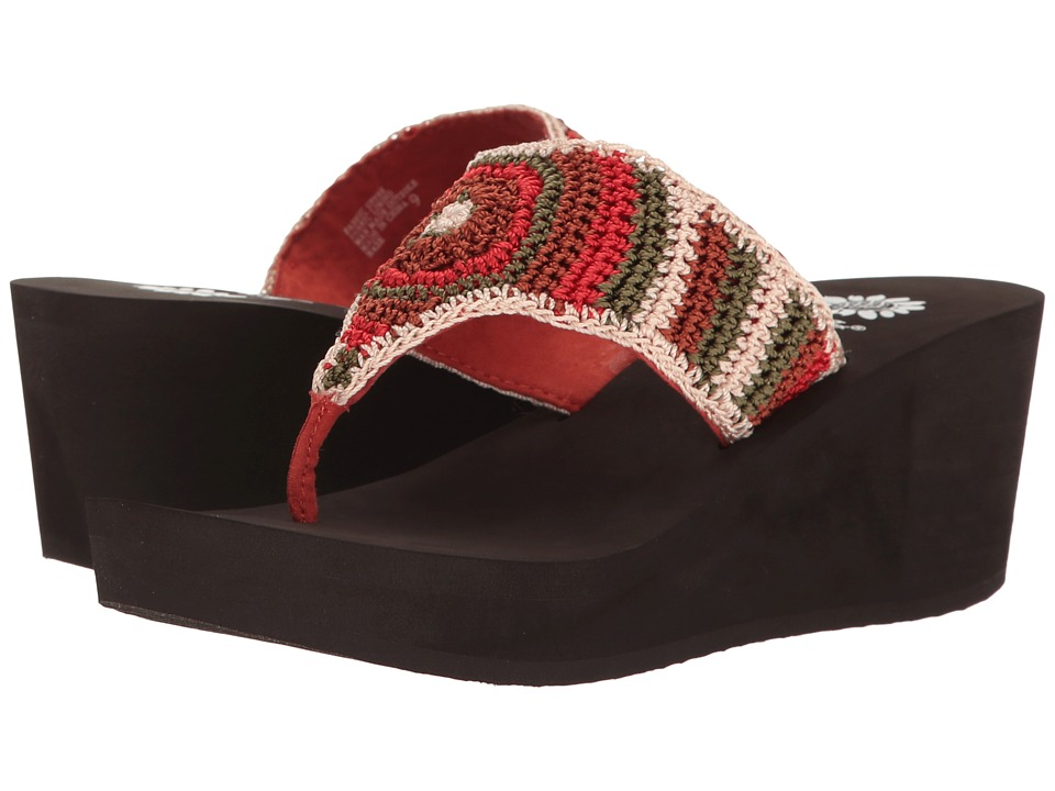 Yellow Box - Nash (Coral Multi) Women's Wedge Shoes