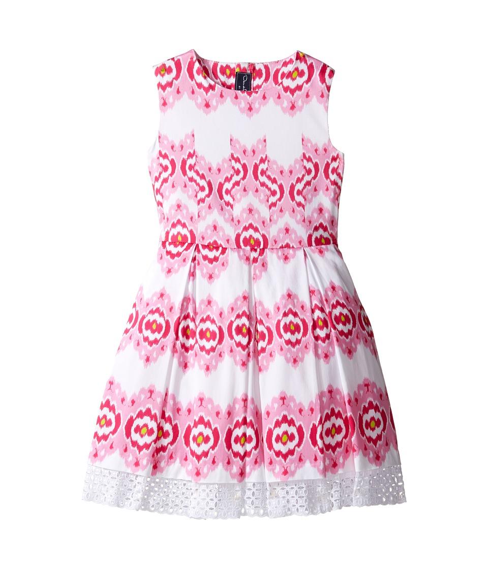Oscar de la Renta Childrenswear - Ikat Cotton Party Dress (Toddler/Little Kids/Big Kids) (Blush/Flamingo) Girl's Dress
