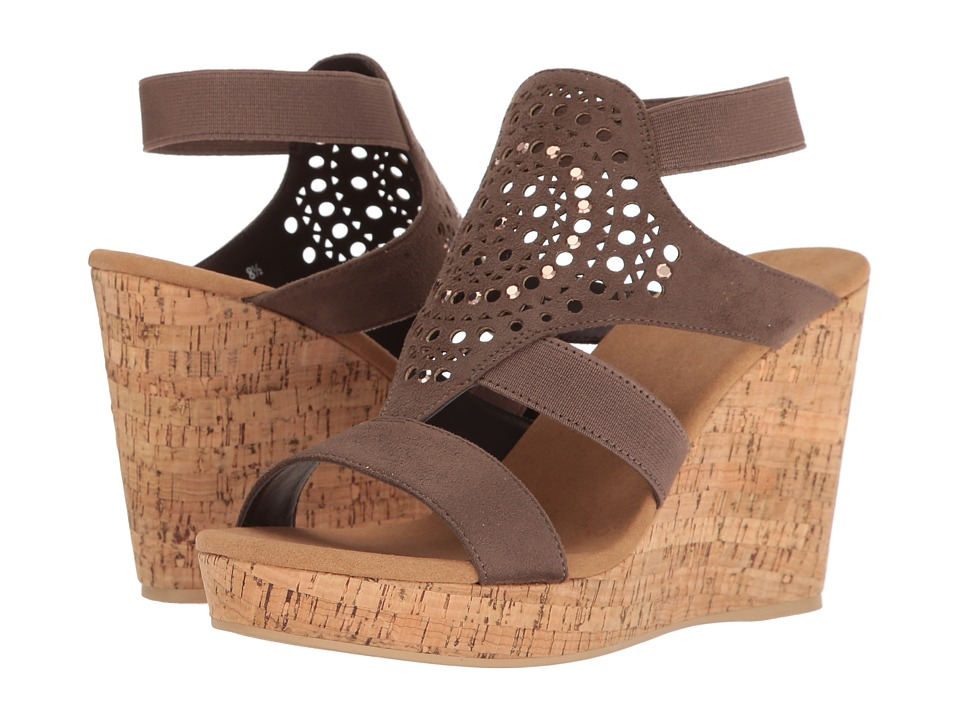 Yellow Box - Nyellie (Taupe) Women's Wedge Shoes