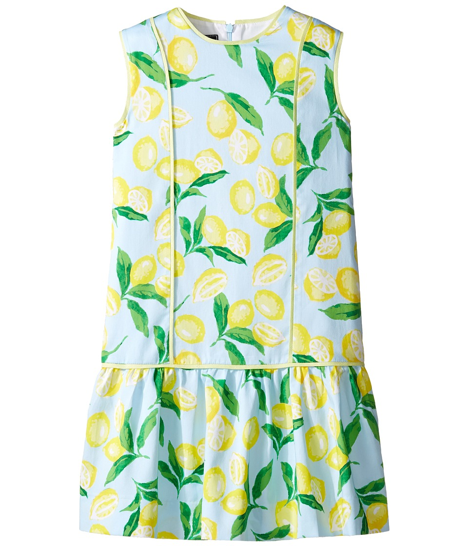 Oscar de la Renta Childrenswear - Painted Lemons Cotton Drop Waist Dress (Toddler/Little Kids/Big Kids) (Capri/Lemon) Girl's Dress