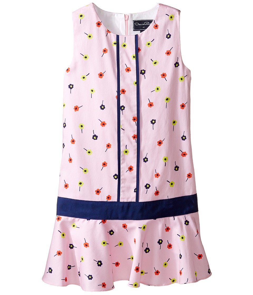 Oscar de la Renta Childrenswear Mini Daisy Toss Cotton Drop Waist Dress