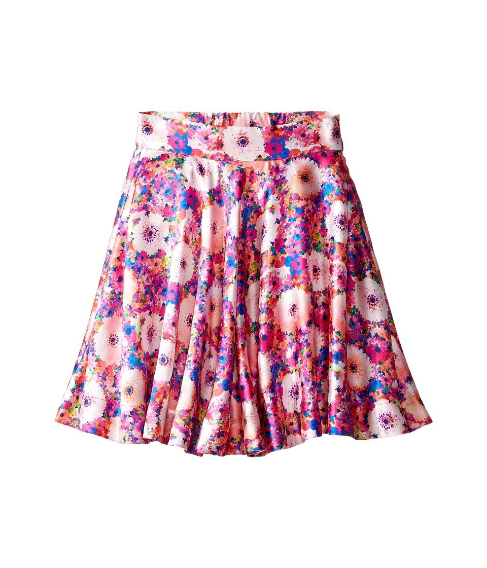 Oscar de la Renta Childrenswear - Rainbow Dahlia Mikado Circle Skirt (Toddler/Little Kids/Big Kids) (Flamingo) Girl's Skirt