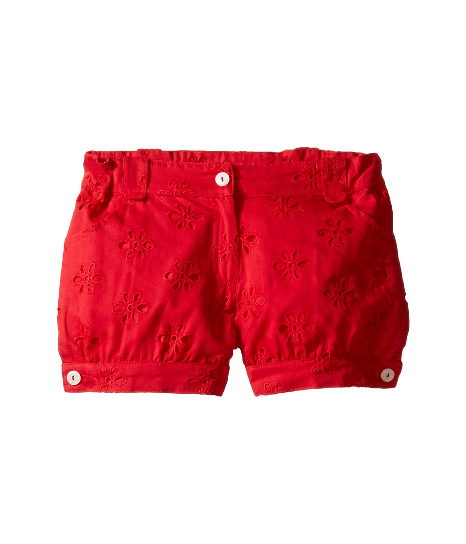Oscar de la Renta Childrenswear - Cotton Eyelet Cute Shorts (Toddler/Little Kids/Big Kids) (Cherry) Girl's Shorts