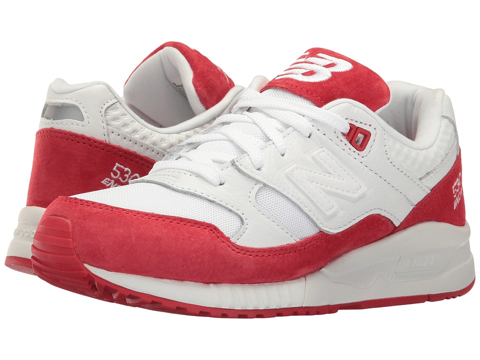 New Balance Classics W530 (White/Alpha Red) Women
