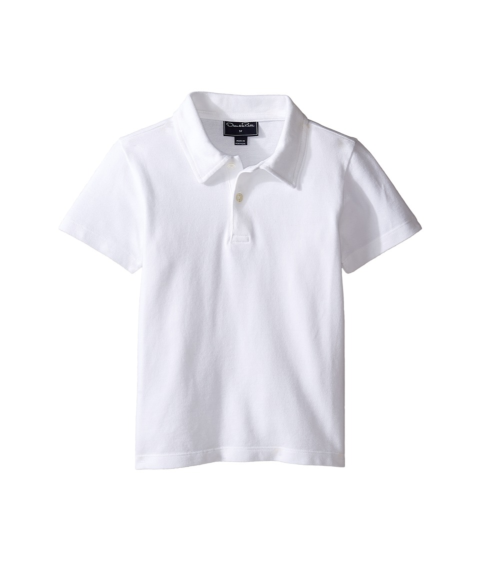 Oscar de la Renta Childrenswear - Pique Polo (Toddler/Little Kids/Big Kids) (White) Boy's Short Sleeve Pullover
