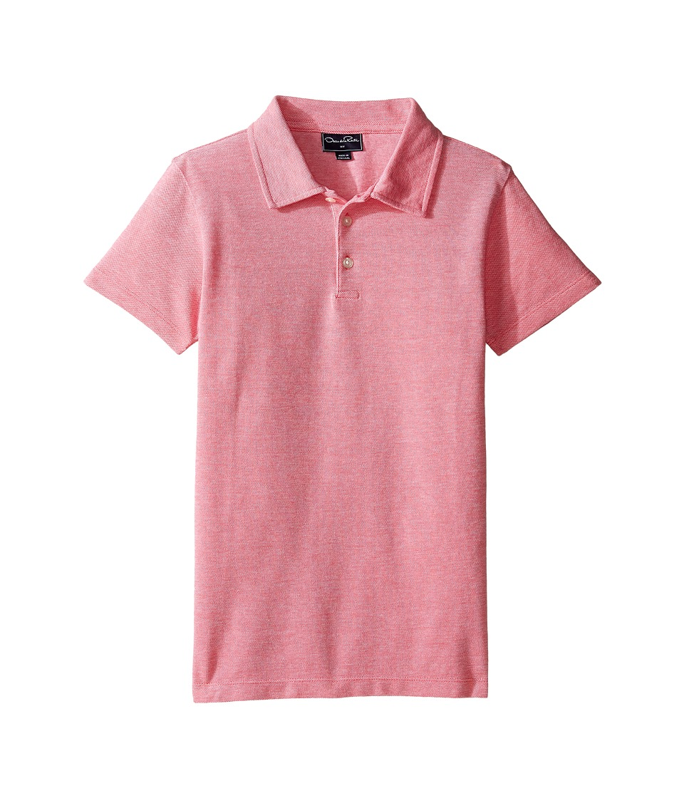 Oscar de la Renta Childrenswear - Heathered Short Sleeve Polo (Toddler/Little Kids/Big Kids) (Cherry) Boy's Short Sleeve Pullover