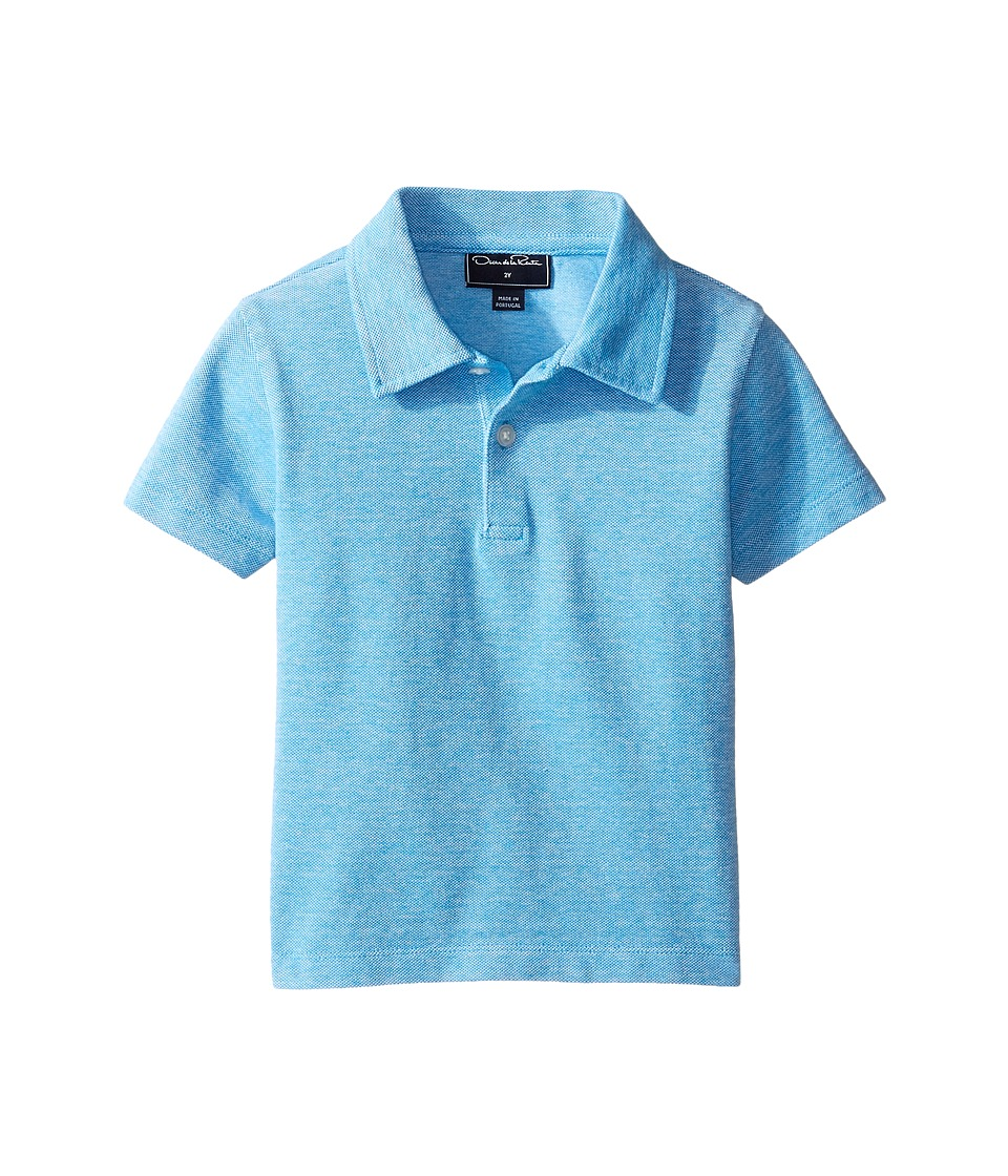 Oscar de la Renta Childrenswear - Heathered Short Sleeve Polo (Toddler/Little Kids/Big Kids) (Ocean) Boy's Short Sleeve Pullover