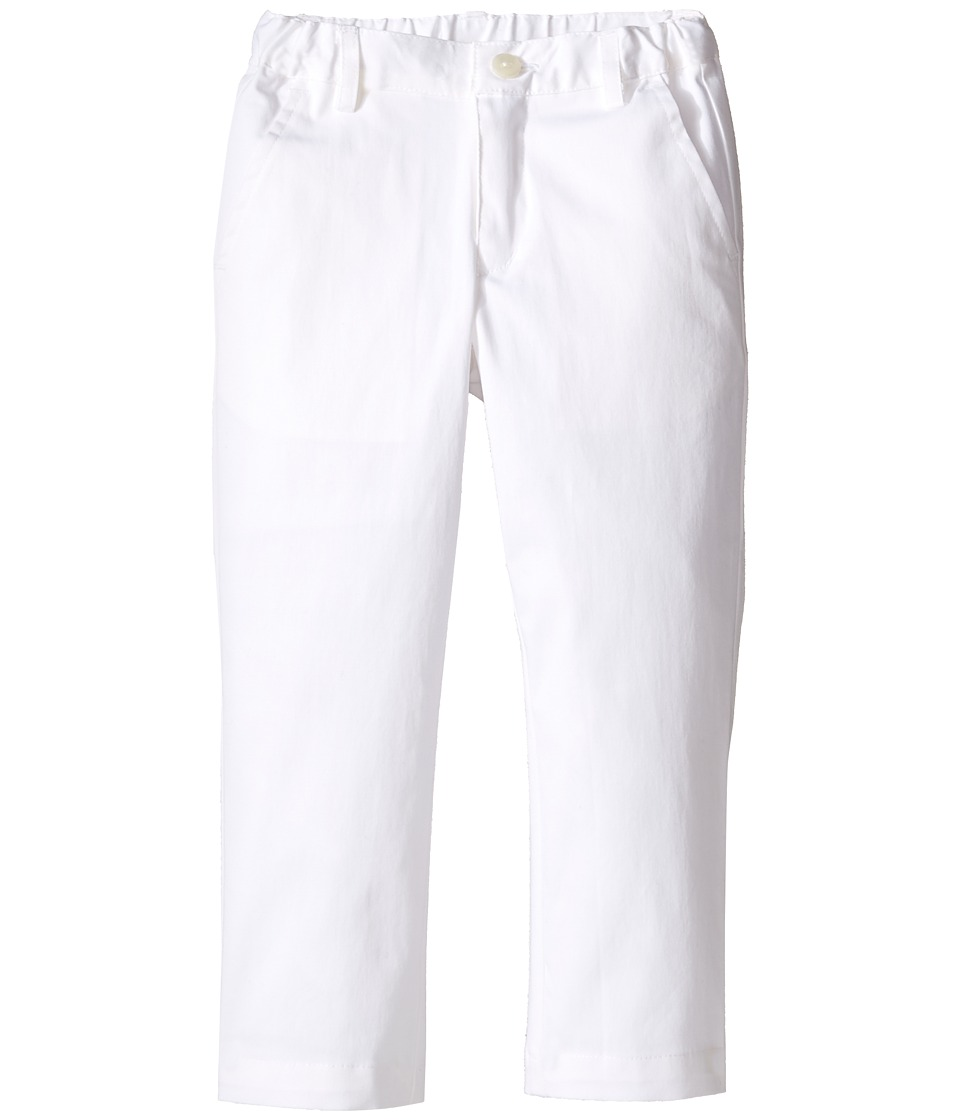 Oscar de la Renta Childrenswear - Cotton Classic Slim Pants (Toddler/Little Kids/Big Kids) (White) Boy's Casual Pants
