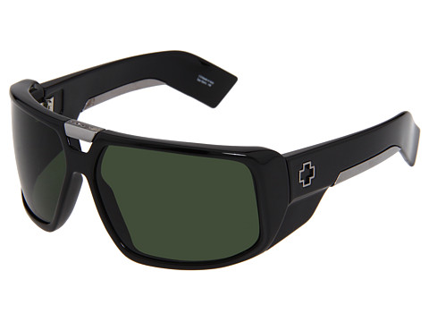 Spy Optic - Touring (Shiny Black/Grey Green Lens) Sport Sunglasses