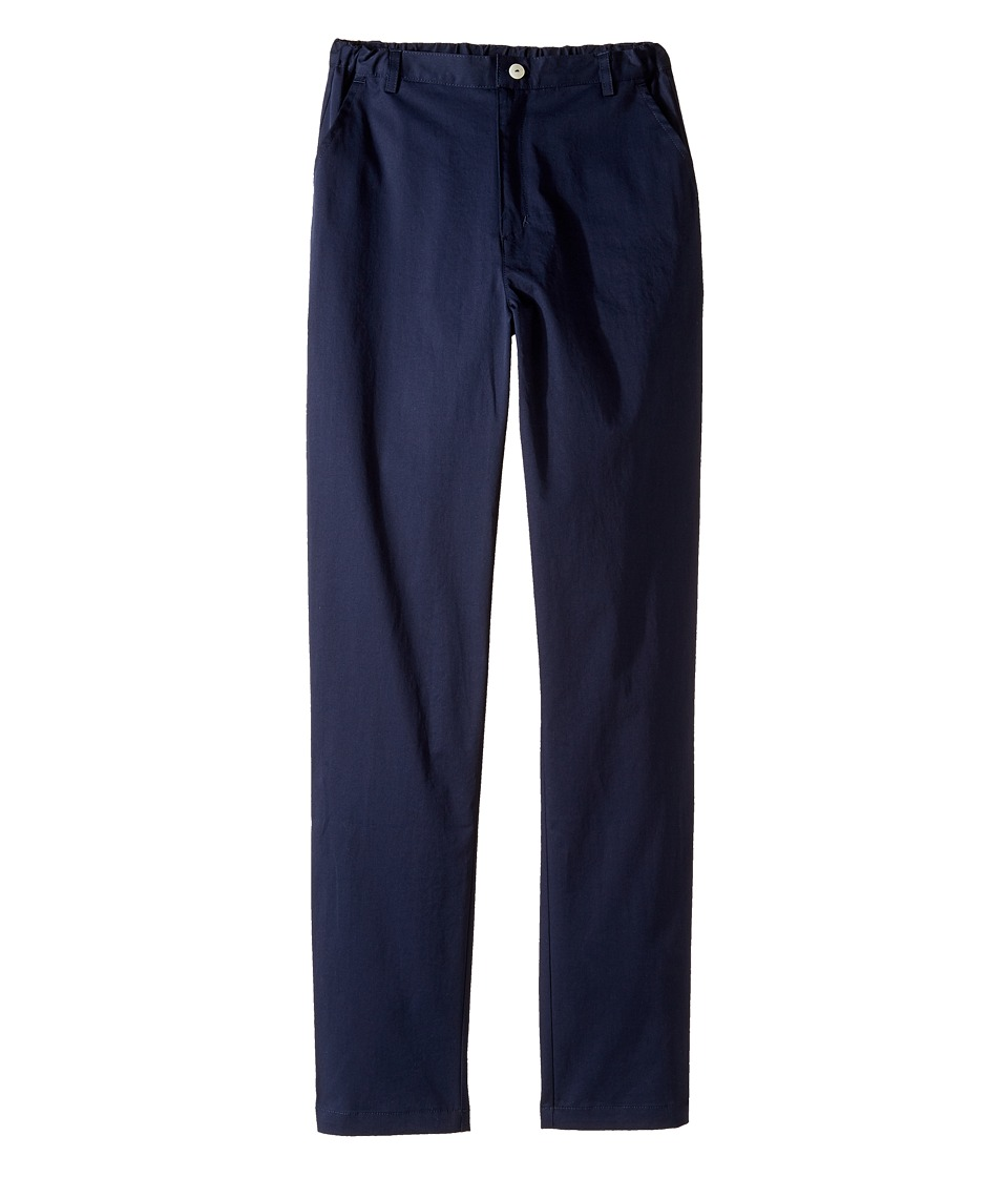 Oscar de la Renta Childrenswear - Cotton Classic Slim Pants (Toddler/Little Kids/Big Kids) (Navy) Boy's Casual Pants