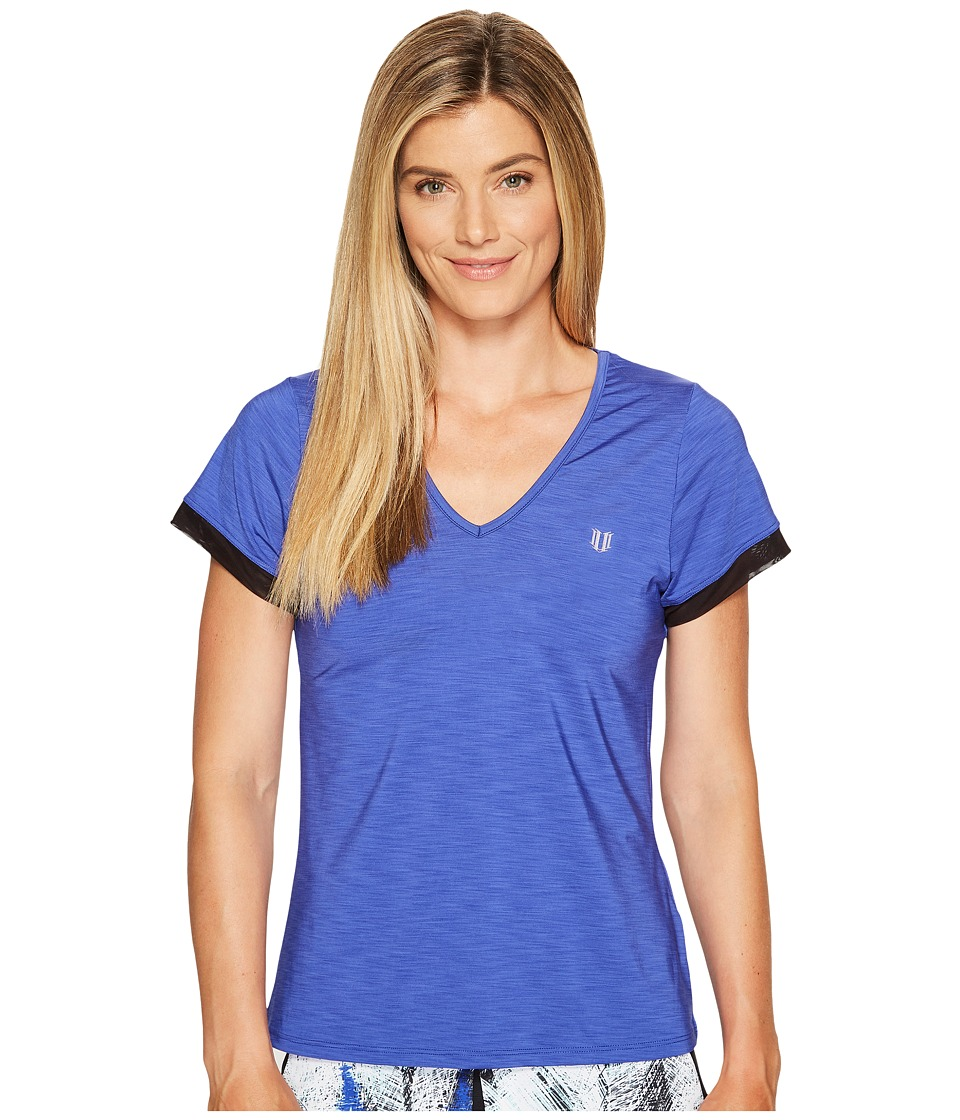 Eleven by Venus Williams - Diamond Intensity Short Sleeve (Royal) Women's Short Sleeve Pullover