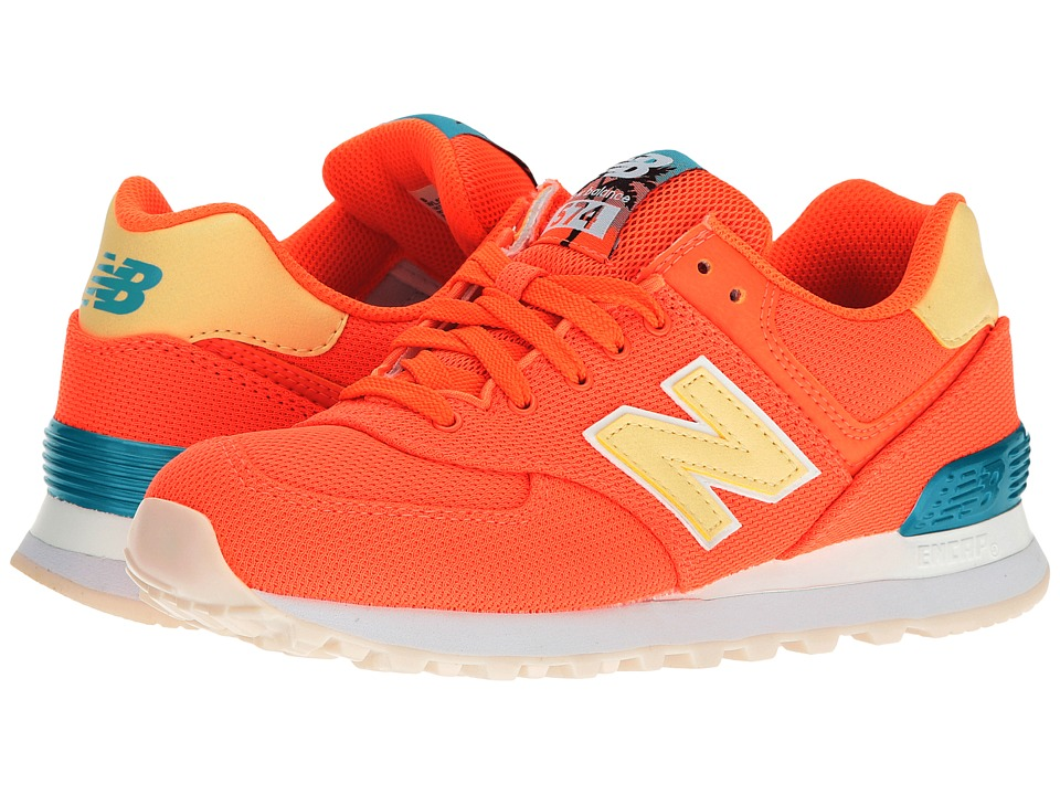 New Balance Classics - WL574 - Miami Palms (Sunrise/Vivid Ozone Blue) Women's Shoes