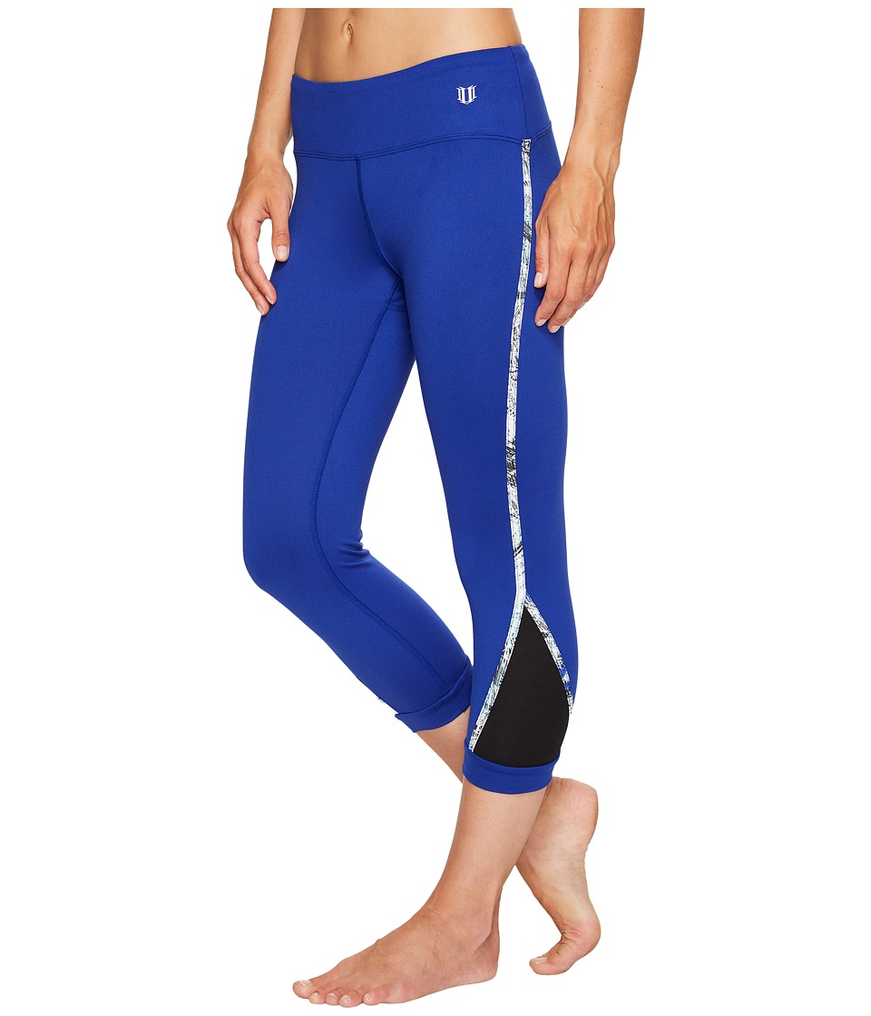 Eleven by Venus Williams Diamond Agility Capris (Royal) Women
