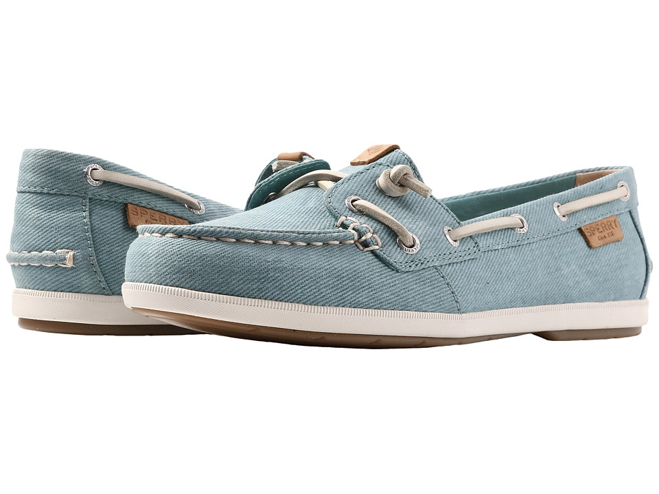 Sperry Coil Ivy Water Canvas (Blue) Women