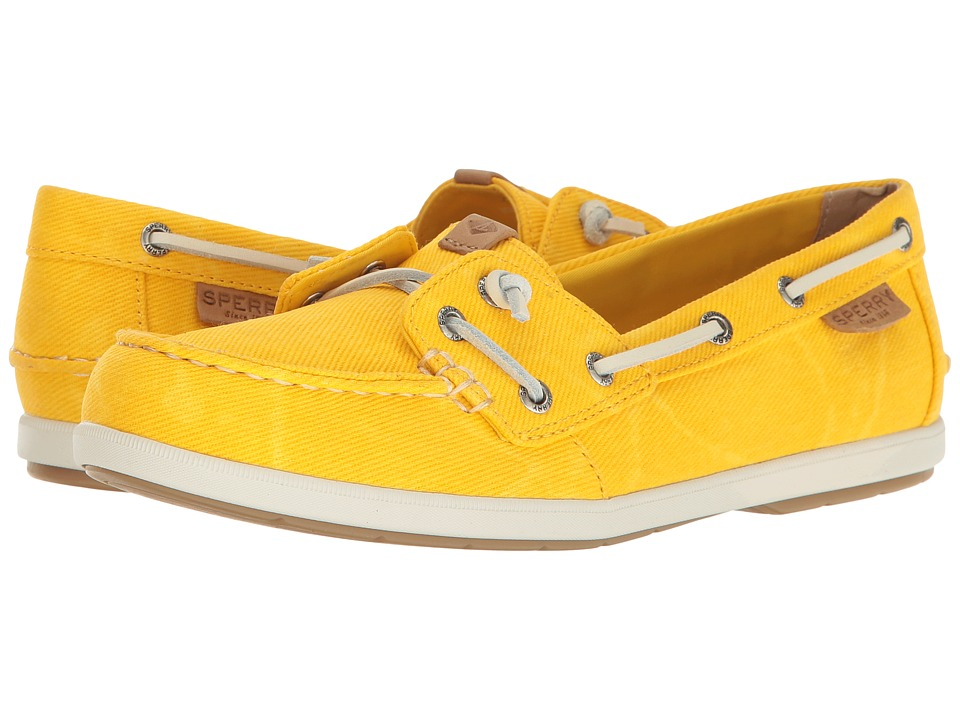 Sperry Coil Ivy Water Canvas (Yellow) Women