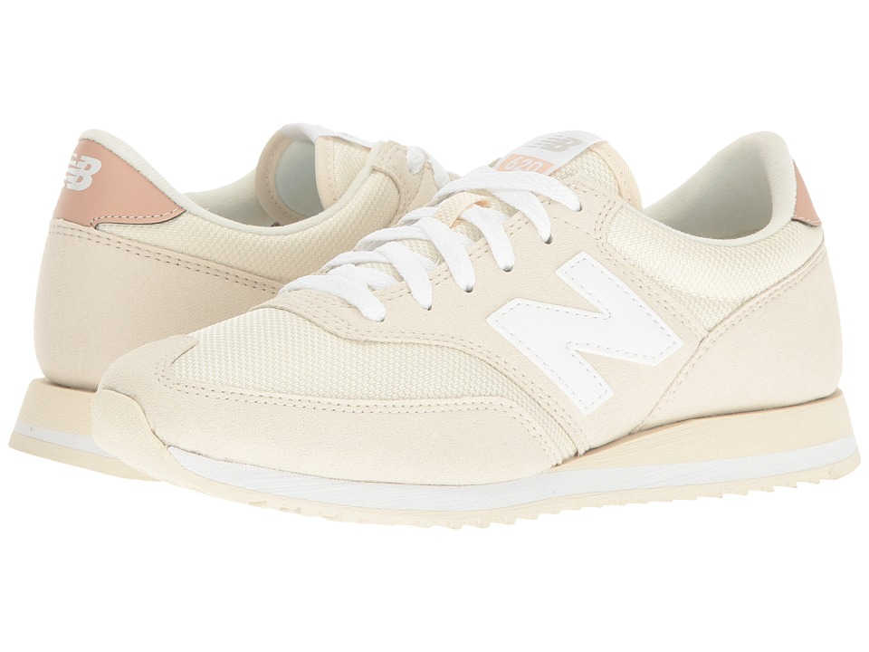 New Balance Classics - CW620 (White Asparagus/Pink) Women's Classic Shoes