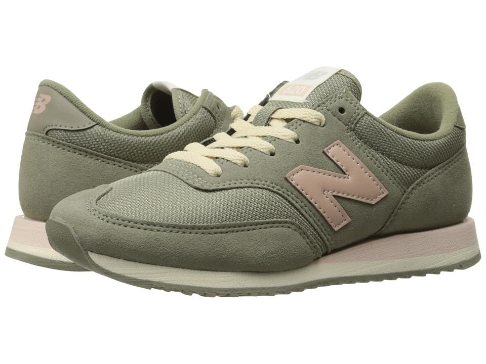 New Balance Classics - CW620 (Vetiver/Pink) Women's Classic Shoes