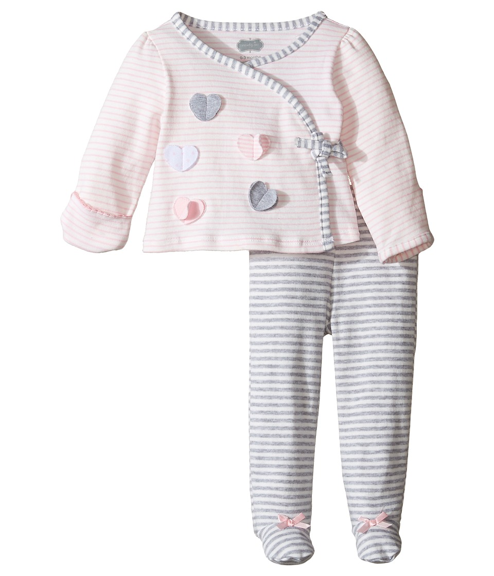 Mud Pie - Heart Take Me Home Set (Infant) (Pink/Gray) Girl's Active Sets