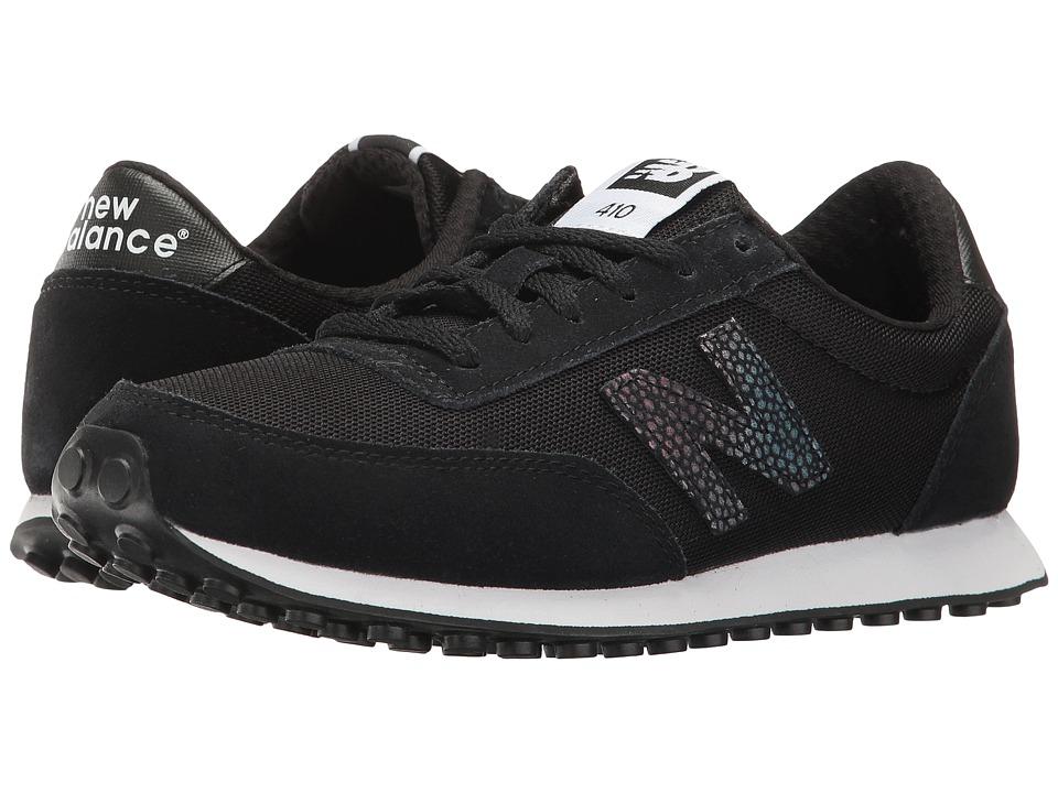 New Balance Classics - WL410 (Black/White) Women's Classic Shoes