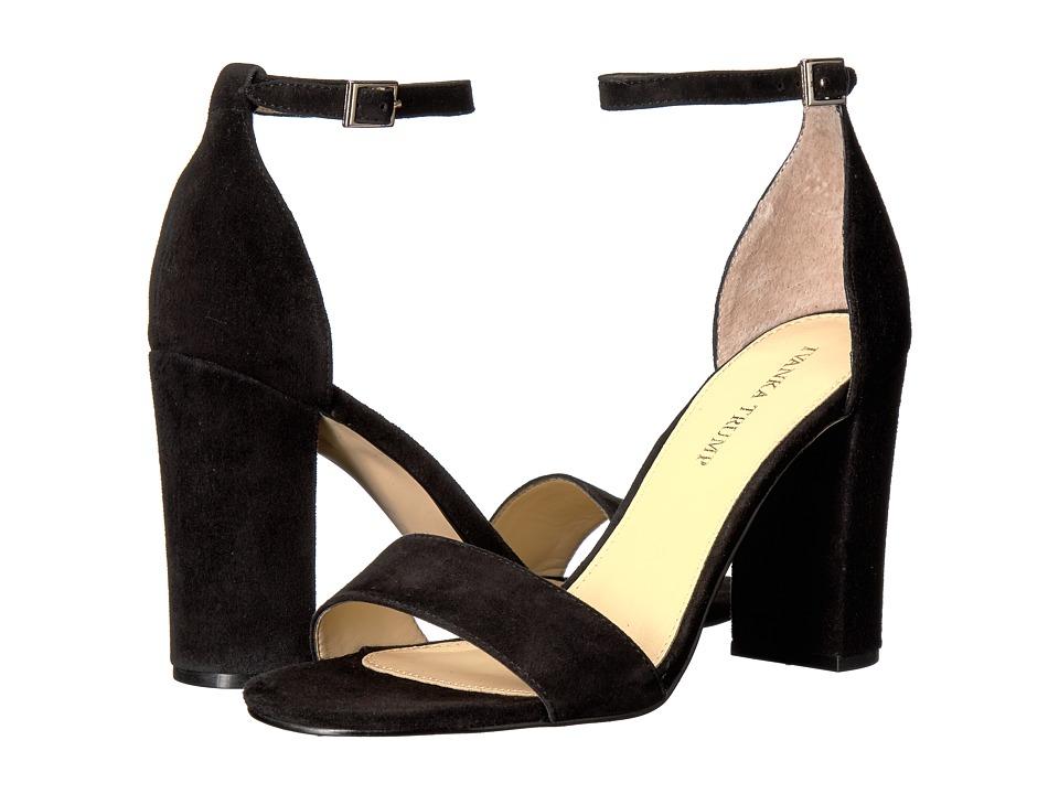 Ivanka Trump Klover (Black Savoy Suede) High Heels
