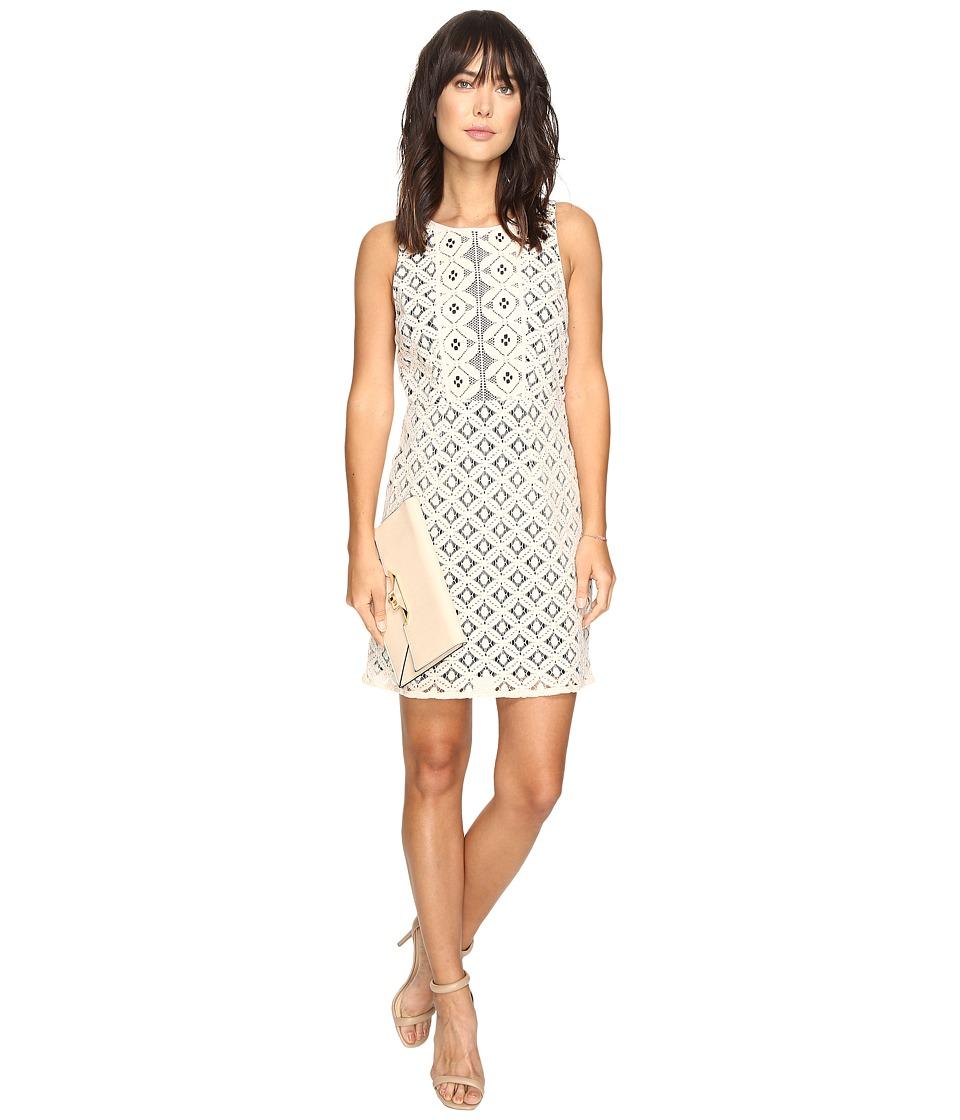 kensie Graphic Geo Lace Dress KS3K7729 (Rosy Nude Combo) Women