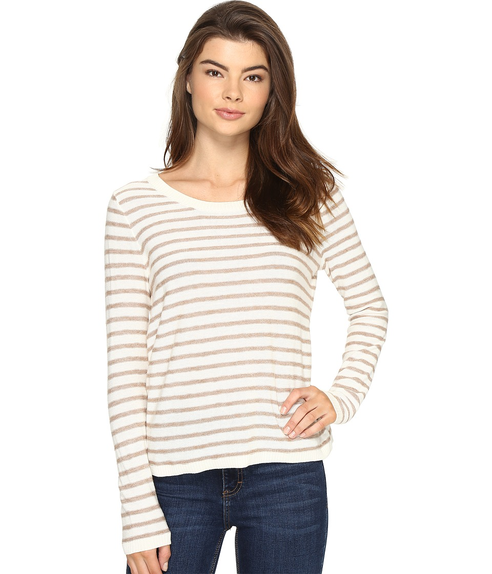 kensie - Flecked Stripe Sweater KS2K5553 (Honey Wheat Combo) Women's Sweater