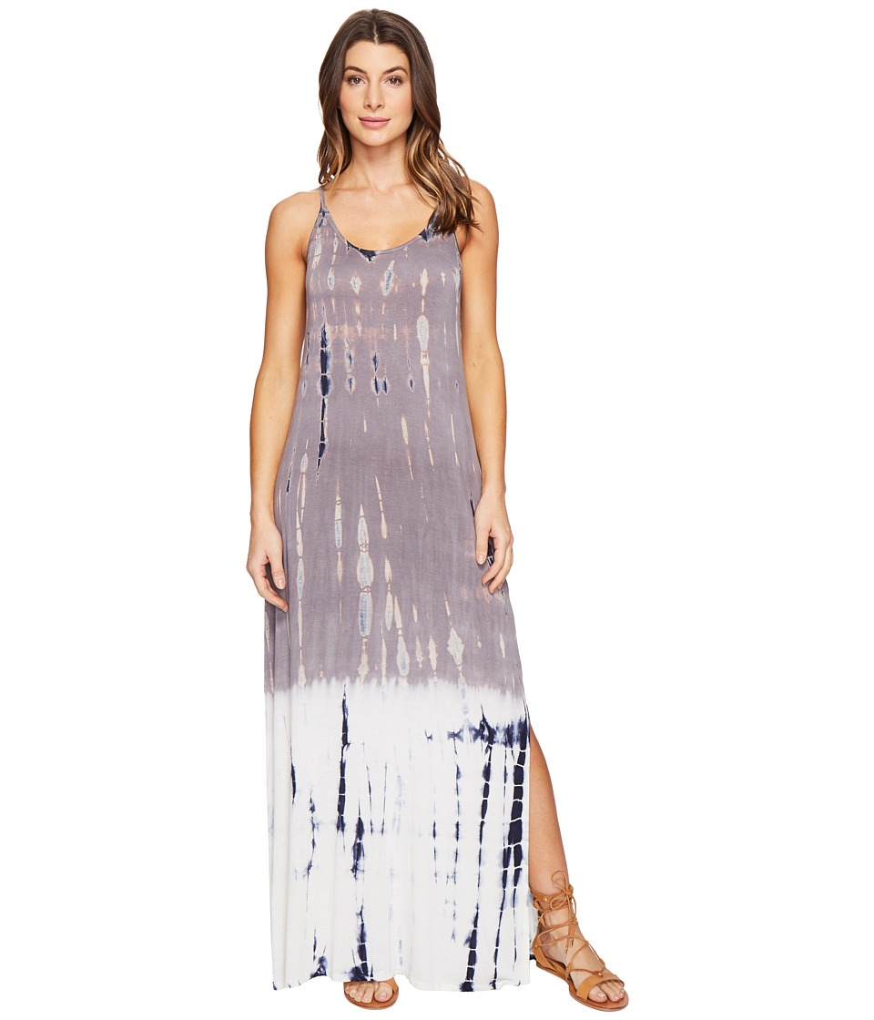 Culture Phit Erryka Spaghetti Strap Tie-Dye Dress (Grey) Women