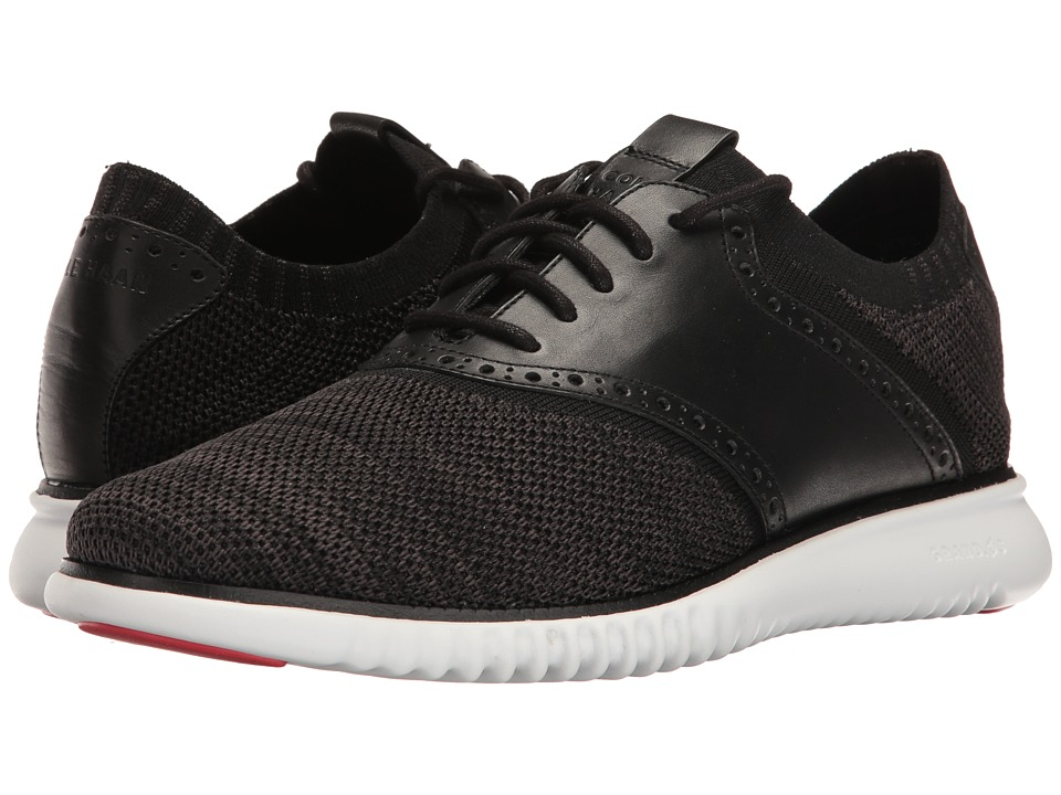 Cole Haan - 2.Zerogrand Packable Saddle-Knit (Black Knit/Goji Berry/Optic White) Men's Shoes