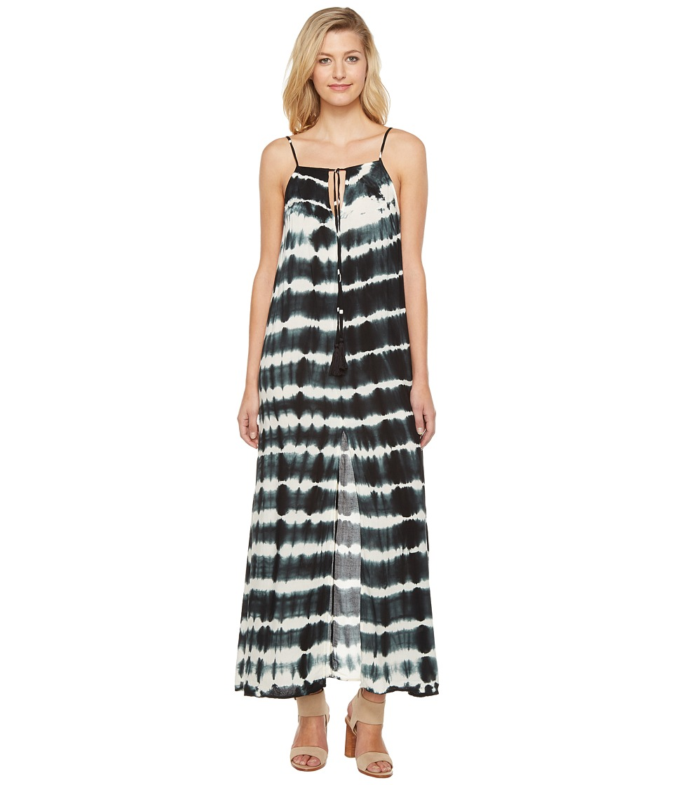 Culture Phit Caleigh Spaghetti Strap Tie-Dye Dress (Black) Women