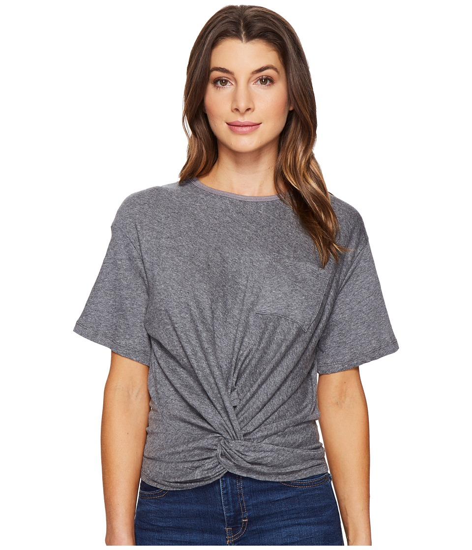 Culture Phit - Bria Twist Front Top (Heather Grey) Women's Clothing