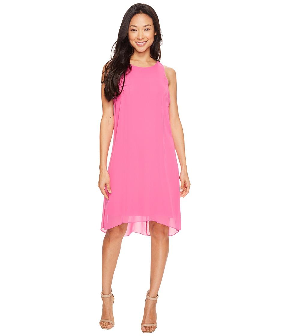 Vince Camuto - Sleeveless Chiffon Overlay Dress (Electric Pink) Women's Dress