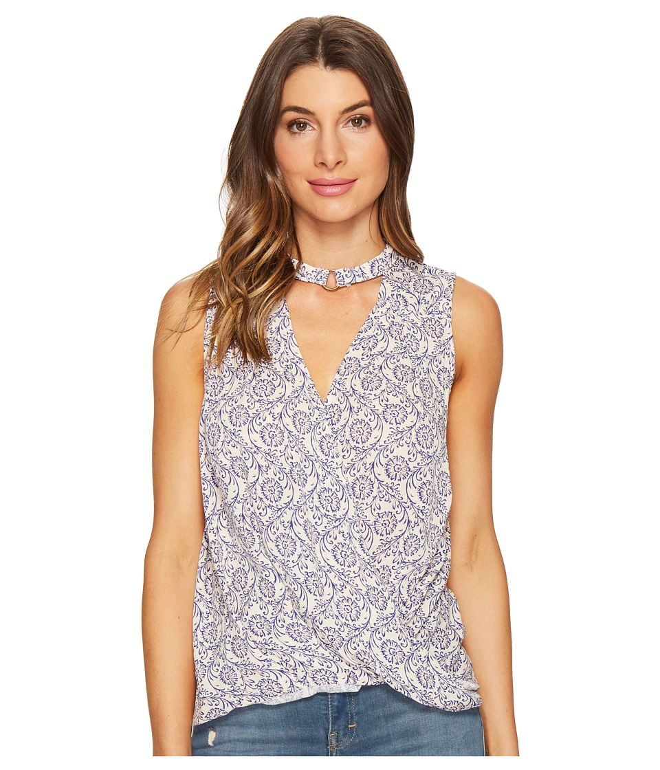 Brigitte Bailey - Brisa Sleeveless Keyhole Top (Navy/Ivory) Women's Sleeveless