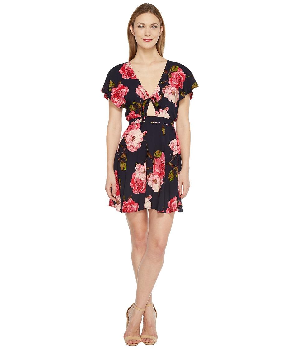 Brigitte Bailey - Joelle Dress with Front Tie (Navy/Pink) Women's Dress