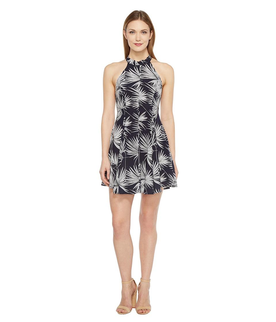 Brigitte Bailey - Julissa High Neck Open Back Dress (Navy/Off-White) Women's Dress