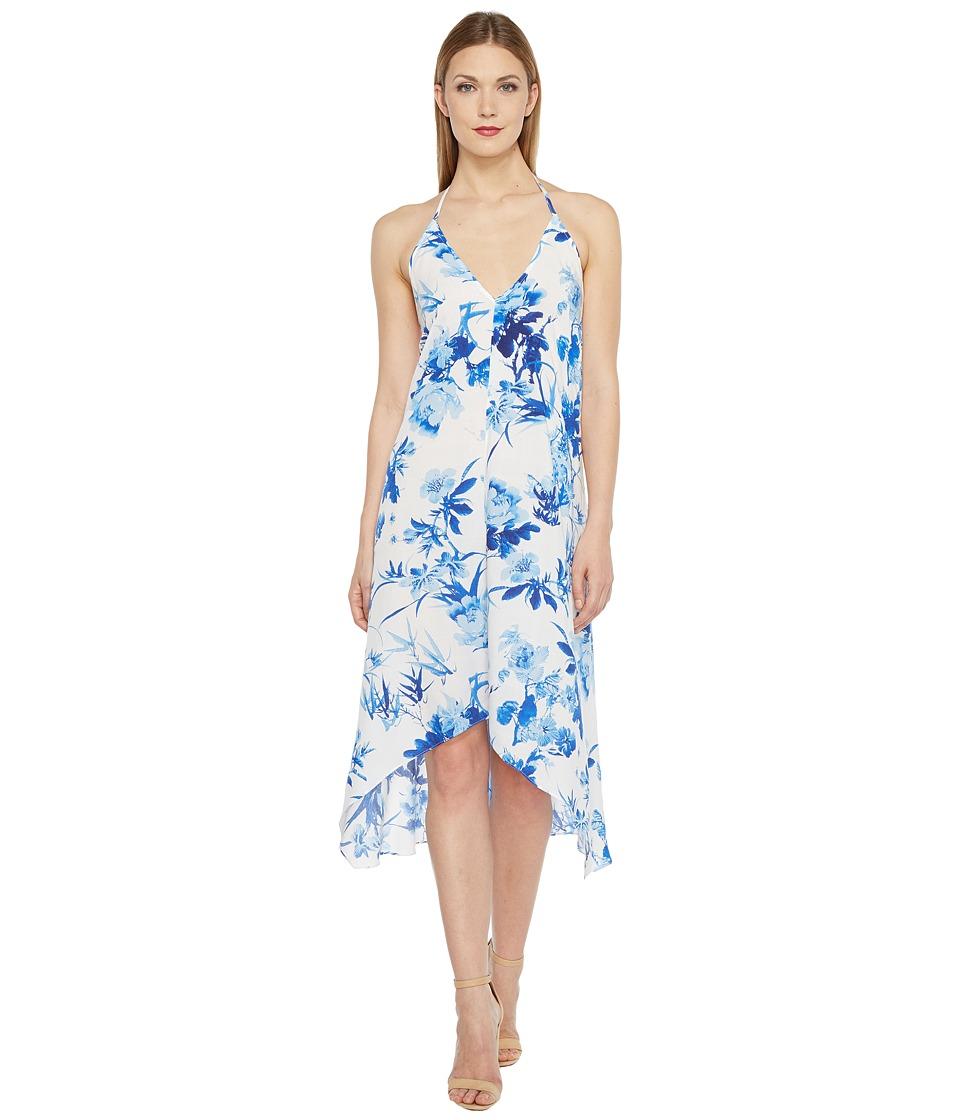 Brigitte Bailey - Julia V-Neck Halter Dress (Off-White/Blue) Women's Dress