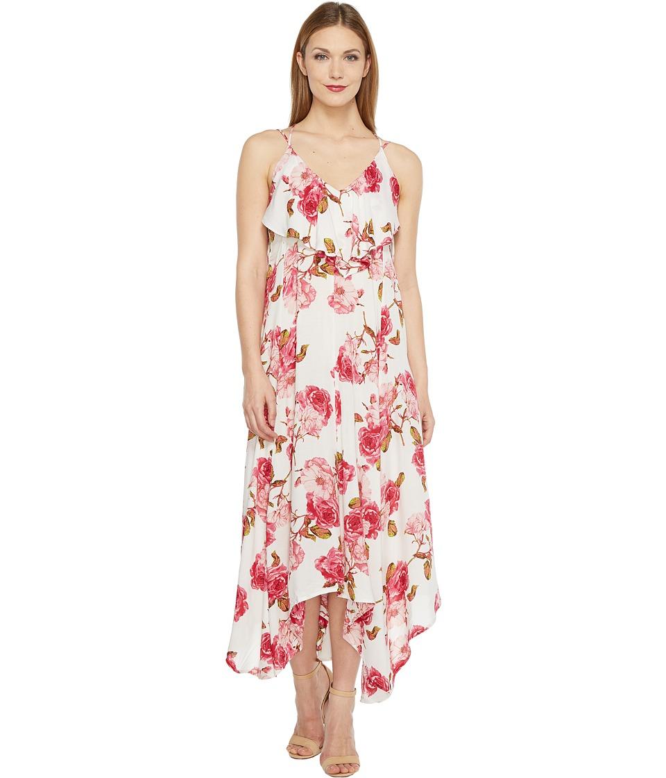 Brigitte Bailey - Kaiya Maxi Dress with Lace-Up Side (Ivory/Pink) Women's Dress