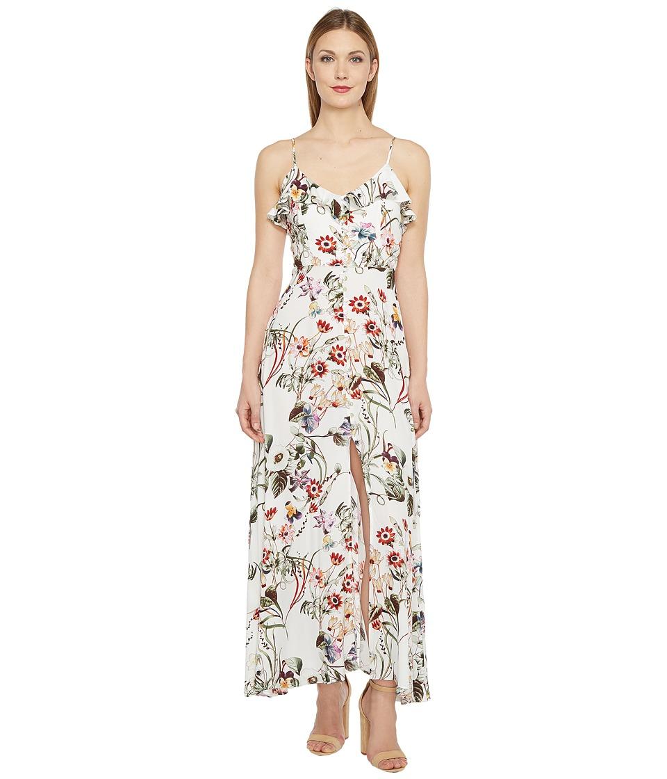 Brigitte Bailey - Aileen Spaghetti Strap Button Up Maxi Dress (Ivory) Women's Dress