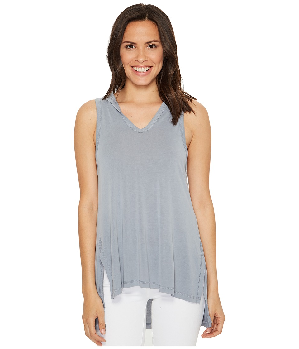 Culture Phit - Flavia Sleeveless Top with Hood (Dolphin Grey) Women's Sleeveless