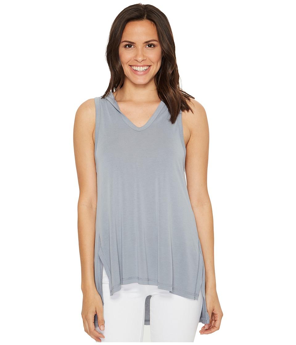 Culture Phit - Flavia Sleeveless Top with Hood (Dolphin Grey) Women's Sleeveless