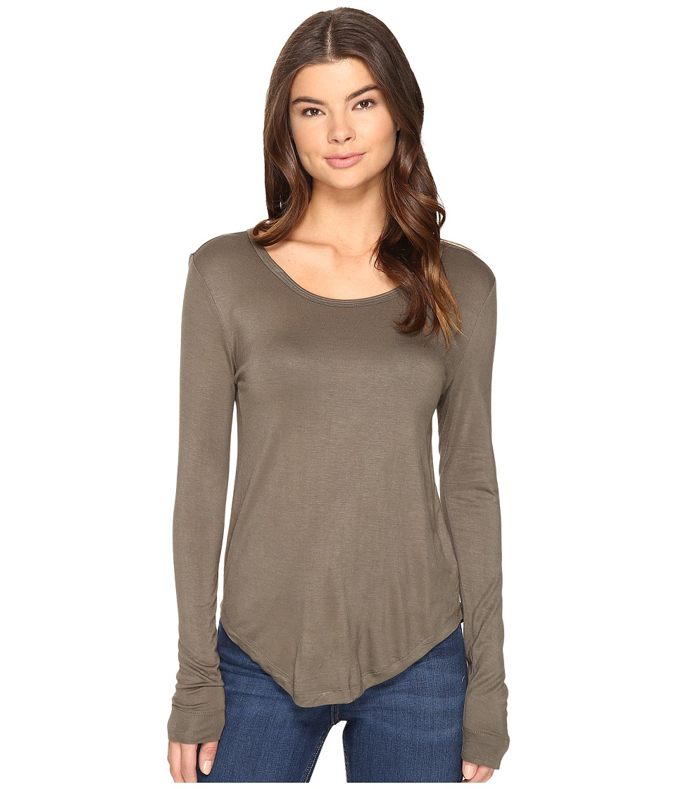 Culture Phit - Fifine Round Neck Long Sleeve Top (Olive) Women's Clothing