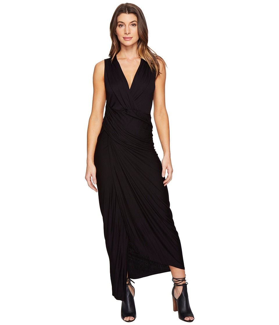 Culture Phit - Izabella Sleeveless Wrap Maxi Dress (Black) Women's Dress