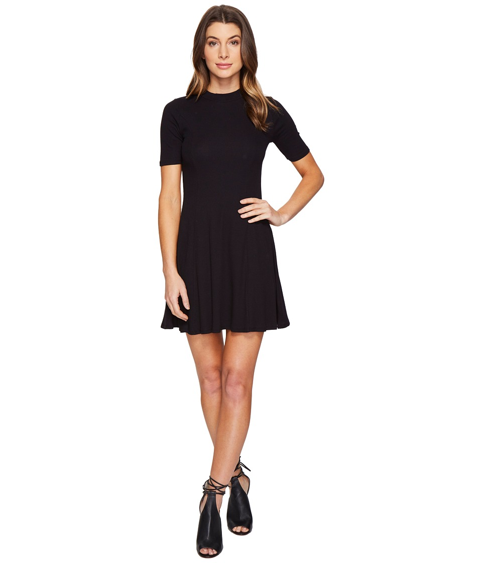 Culture Phit Fleta Mock Neck Dress (Black) Women